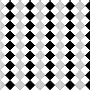 Diamond Tile Mini Grey