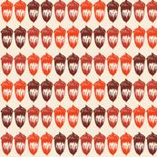 Acorns Small Double - Autumnal Orange Mix