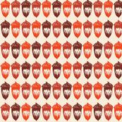 Acorns Small - Autumnal Orange Mix