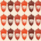 Acorns Big Stripe - Autumnal Orange Mix