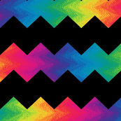 black and rainbow chevron