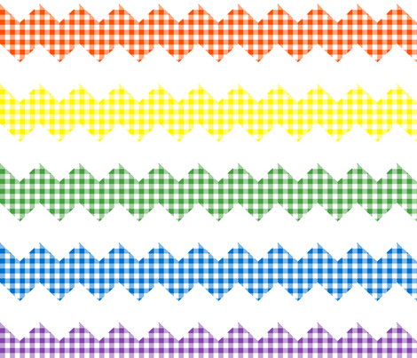 rainbow zigzag gingham