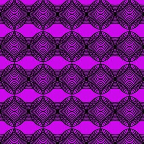 MEDIUM Fish Circles Purple