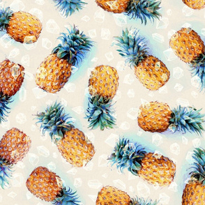 Pineapples + Crystals