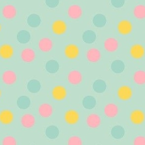 pastel confetti on mint