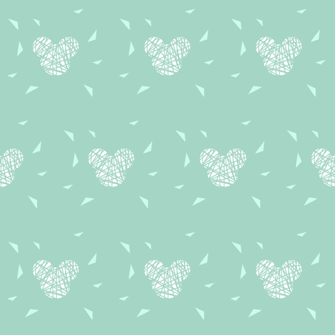white_mickey_on_mint_with_lines