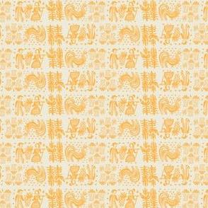 Orange Butterprint Design