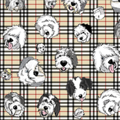 OES Faces Beige Plaid