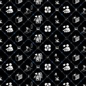 Portal diamonds black/blue inverted