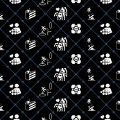 Portal diamonds black/blue 2