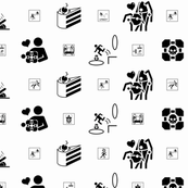 Portal large and small icons white