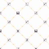 Portal diamonds small white/orange