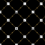 Portal diamonds small black/orange