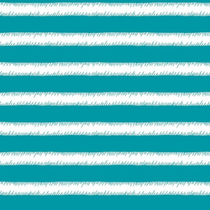 Teal and White Adventure Stripe