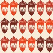 Acorns Big Double - Autumnal Orange Mix