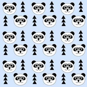 BABY BLUE PANDAS