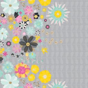 Grey floral border