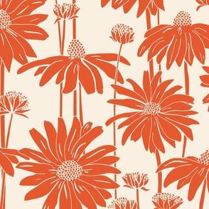 Sunshine Daisy - Cream Tangerine