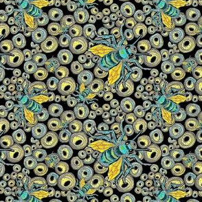 Mason Bees Turquoise/Yellow