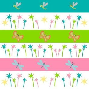 Aloha Palm Stripes- critter pals