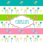 Aloha Palm Stripes- critter pals-personalzied