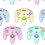 Pop Art N64 Inspired Controller