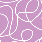 Doodle Line Art | White Lines on Lavender Purple Background