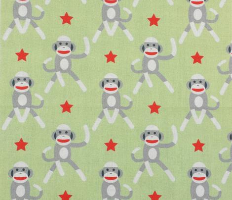 Sock Monkeys Soft Green