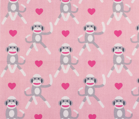 Sock Monkeys Light Pink