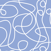 Doodle Line Art | White Lines on Periwinkle Background