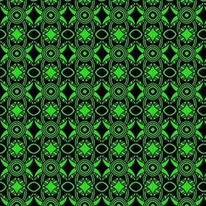 Irish Starry Night Green Black