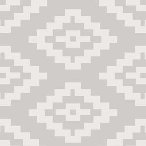 Geometric Kilim  --  Large Repeat in taupe