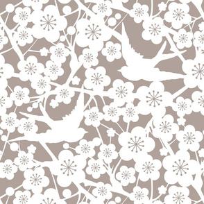 Cherry Blossom - Soft Taupe