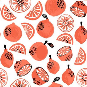 Summer Citrus - Orange/Red by Andrea Lauren
