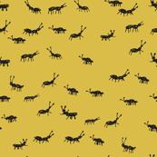 Ants - Mustard by Andrea Lauren