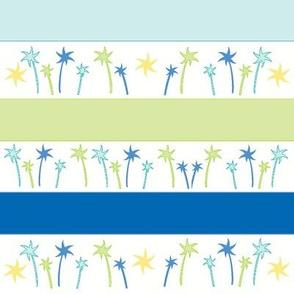 Lagoon Palm Stripes