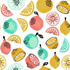 Summer Citrus - Yellow, Red, Mint by Andrea Lauren