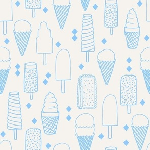 Ice Cream Varieties - Sky Blue by Andrea Lauren