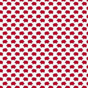 Piggy Bank - White and Red (Smaller) by Andrea Lauren