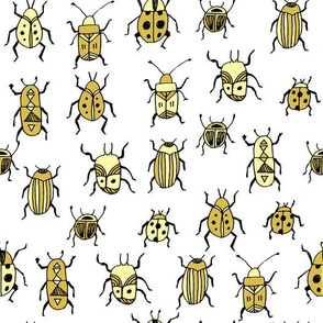Beetles - Yellow by Andrea Lauren
