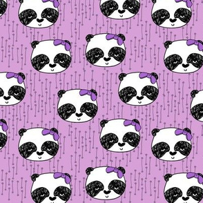 Panda with Bow - Wisteria (Small Version) by Andrea Lauren