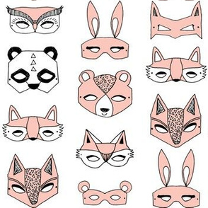 Animal Masks - Pale Pink by Andrea Lauren