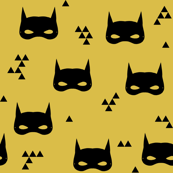 bat mask // mustard kids yellow nursery baby triangles
