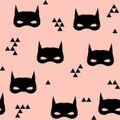 cat mask // pink girls super hero kids triangle baby print