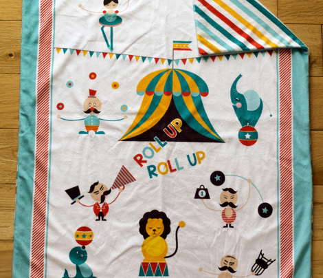 Baby Tom's Circus-Stroller Blanket