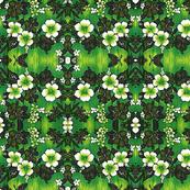 Hawaii Green Hibiscus print