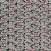 Pink Flamingo hawaiiana fabric