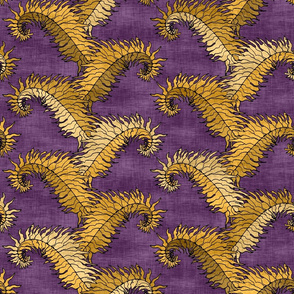Golden Fern Stripe Purple