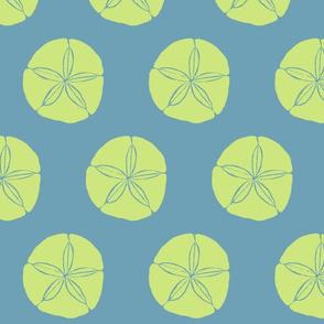 Sand Dollar XL celery on sea blue- 2015