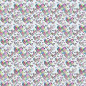 colored pencil hearts